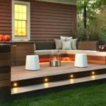 deck in small yard