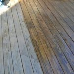clear coating deck